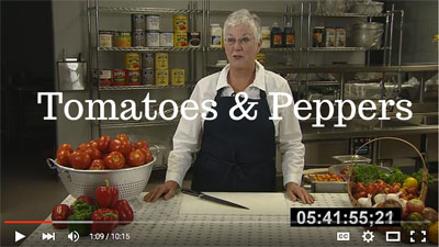 tomatoes and peppers video link