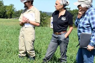three farmers asking questions
