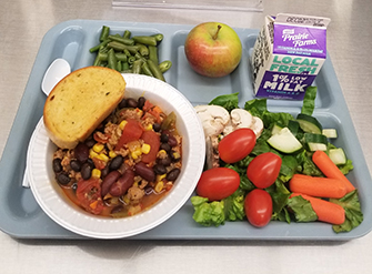 A healthy lunch tray